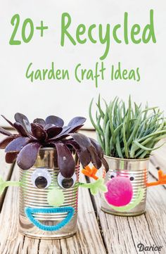 Celebrating spring has never been as fun than with these 20+ Recycled Garden Craft Ideas! From DIY bird feeders to silly planters, these projects are sure to keep your kids entertained all season long.
