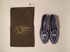 BELGIAN Shoes - Women's Midinettes Lilac Calfskin Loafers - Size 8N #BelgianShoes #LoafersMoccasins