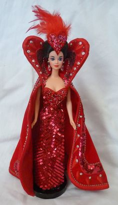 Queen of hearts barbie 7th in series 1994 bob mackie w shipper #Mattel #Dolls