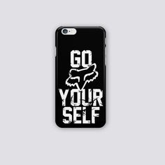 Go fox your self black iphone case cover-snap