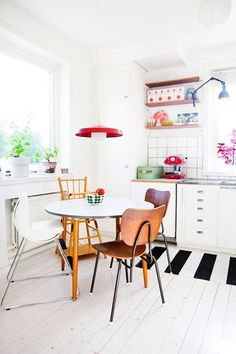 The colorful swedish home of johanna from blog aprill aprill..