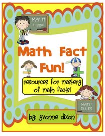 """This is my """"Math Fact Fun Resource"""" Packet!  Your students will work with """"learning buddies"""" to practice addition/subtraction/multiplication/division facts!"""