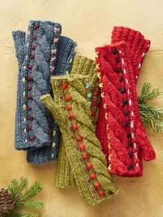 Knit Mittens, Mitten Gloves, Rustic Charm, Hand Warmers, Fingerless Gloves, Holiday Gifts, Winter Fashion, Design Ideas, Cold