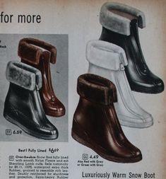Vintage Shoes Women, Vintage Fur, Vintage Boots, Vintage Style, Vintage Inspired, Winter Fashion Boots, Winter Boots, Fashion Shoes, Winter Rain