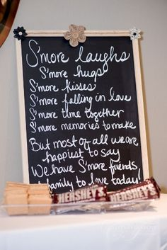 Cute sign to display at dessert table/s'mores bar