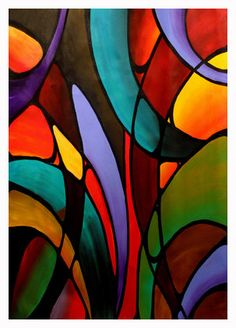 5 x 7 art print in an 8 x 10 mat Modern Abstract Contemporary colorful psychedelic conceptual church window Stained Glass Designs, Stained Glass Panels, Stained Glass Projects, Stained Glass Patterns, Stained Glass Art, Glass Artwork, Contemporary Abstract Art, Conceptual Art, Large Painting