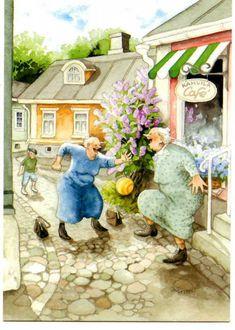 Финская художница Inge Look. СТАРУШКИ-ХОХОТУШКИ… « Николлетто