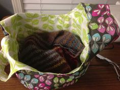 Calico Kelley reversible Japanese knot project bag