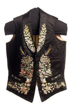 Gentleman's embroidered silk vest 1853. LOVE this. Men's or not, I  would absolutely wear it...
