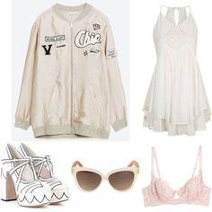 Mote for jenter på nett Adidas Jacket, Athletic, Polyvore, Jackets, Shopping, Fashion, Down Jackets, Moda, Athlete