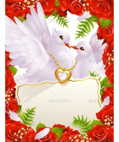 Illustration of Greeting card with doves vector art, clipart and stock vectors. Free Vector Images, Vector Free, Christmas Hearts, Christmas Tree, Bride Of Christ, Vector Flowers, Wedding Background, Decoupage, Wedding Cards