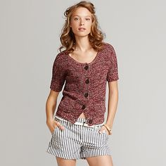 Short sleeved cardigan
