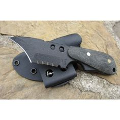 Back Up Wicked Serrated Black Micarta