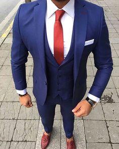 One Button Black Polka Dot Groom Tuxedos Shawl Lapel Groomsmen Mens Wedding Prom Suits (Jacket+Pants+Vest+Tie) Mens Fashion Suits, Mens Suits, Men's Fashion, Prom Suit Jackets, Terno Slim, Blue Suit Men, Blue Suits, Rock Style Men, Elegantes Outfit