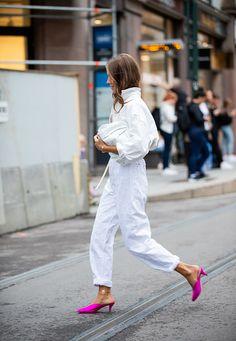 Oslo, Denim Fashion, Fashion Outfits, Fashion Weeks, Style Fashion, White Outfits, Casual Outfits, Urban Chic Looks, White Clutch