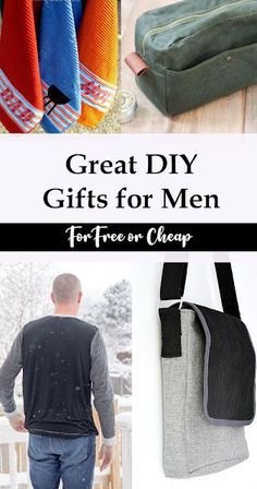 Clever DIY Homemade Gifts for Men - Clever DIY Gifts for Men for Father's Day, birthdays or Christmas - Easy Sewing Projects, Sewing Projects For Beginners, Sewing Hacks, Sewing Tutorials, Sewing Crafts, Sewing Ideas, Diy Projects, Homemade Gifts For Men, Diy Gifts For Men