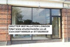 #FrontGlassShutterSouthLondon SHUTTER INSTALLER LONDON http//:www.shutterinstaller.co.uk Cont.02071400028  or 07730286838