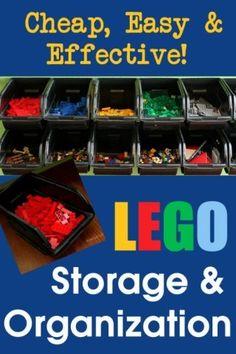 Plastic Bin Lego Storage
