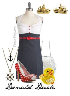 """""""Donald Duck"""" by polyspolyvore ❤ liked on Polyvore featuring Not Rated, Kate Spade, women's clothing, women's fashion, women, female, woman, misses and juniors"""