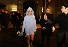 Best of Paris Street Style -  Cara Delevingne in Fenty Puma