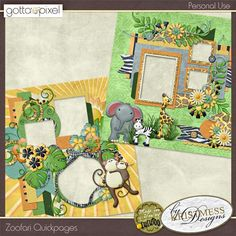Zoofari QuickPages by Kristmess Designs
