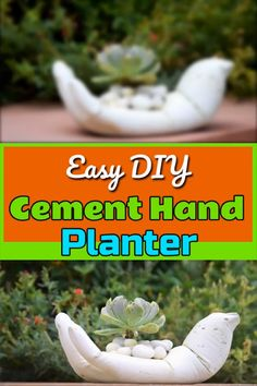 Homemade DIY Hand Planter from White Cement Homemade DIY Hand Planter from White Cement Sherin woods DIY planters This amazing homemade DIY Hand Planter is made nbsp hellip pflanzen videos Hand Planters, Concrete Planters, Garden Planters, Cement Crafts, Plant Holders, Diy Craft Projects, Home Crafts, Diy Crafts, Indoor Plants