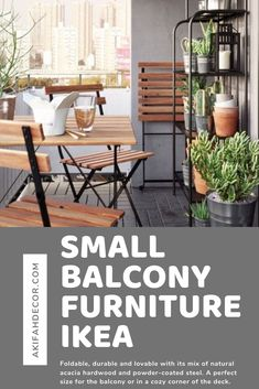 Best Small Balcony Furniture Inspiration – Decorating Ideas - Home Decor Ideas and Tips Small Balcony Furniture, Outdoor Furniture Sets, Outdoor Decor, Ikea, Fire Escape, Furniture Inspiration, Hardwood, Decorating Ideas, Decor Ideas