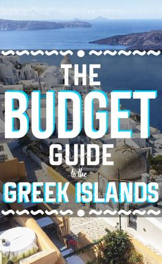 THE BUDGET GUIDE TO THE GREEK ISLANDS Learn how you can save a ton of money on your next trip to the Greek Islands. Everyone wants to visit the Greek Islands at some point in their lives, right? Right now is the best time to visit the Greece. Greece Vacation, Greece Travel, Greece Trip, Greek Islands Vacation, Visit Greece, Greece Tourism, Greek Islands To Visit, Best Greek Islands, Greece Honeymoon