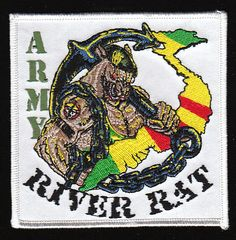 Army River Rat Vietnam Military Patch $6.75