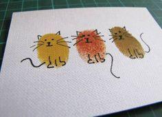 Thumbprint Cats