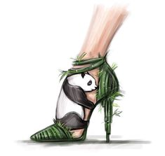 Panda heels