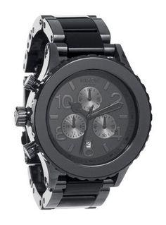 Nixon 42-20 Chrono Watch Gunmetal/Black Acetate, One Size - http://www.specialdaysgift.com/nixon-42-20-chrono-watch-gunmetalblack-acetate-one-size/