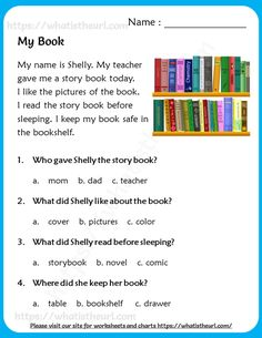 2nd Grade Reading Passages, First Grade Reading Comprehension, Grade 1 Reading, Phonics Reading, Reading Comprehension Worksheets, Kindergarten Reading, Picture Comprehension, English Lessons For Kids, Learn English Words