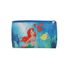 Disney The Little Mermaid Ariel Cosmetic Bag | Hot Topic ($7.60) ❤ liked on Polyvore featuring beauty products, beauty accessories, bags & cases, bags, purses, travel kit, travel toiletry case, toiletry bag, cosmetic purse and dopp bag