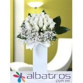 header=[15 Adet Beyaz Gül Seramik Vazo İçerisinde Büyükçekmece Çiçekçilik 80.00TL] body=[] fade=[on]