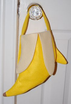 Banana Trick or Treat Bag for Infants- Great Monkey Costume Accessory - Made to Order