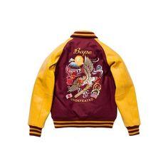 Undefeated x Bape Alliance Varsity Jacket Highsnobiety ❤ liked on Polyvore