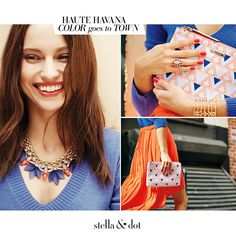 Meet the Haute Havana Collection - Inspired by mixed media styling, these geometric clusters steal the show! | Stella & Dot