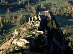 Château de Roquefixade - Ruined Medieval Cathar Castle in France