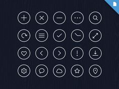 Free Icon Pack - Volume 1 by Robin Kylanderhttp://dribbble.com/shots/1290165-Free-Icon-Pack-Volume-1?list=users