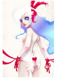 La Clé Perdue, an art print by Ludovic Jacqz Art Kawaii, Art Et Illustration, Girl Illustrations, Thing 1, Musa, Art Forms, Female Art, Art Girl, Amazing Art