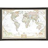 Craig Frames Wayfarer, Executive World Push Pin Travel Map, Weathered Black Driftwood Frame and Pins, 24 by Travel Map Pins, Travel Maps, Driftwood Frame, National Geographic Travel, Personalised Canvas, Diy Wall Art, Wall Decor, Travel Memories, Travel Gifts