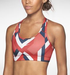 Nike Pro Printed Sports Bra. #train #sportsbra