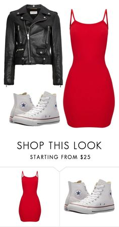"""Untitled #90"" by kacis-kacis on Polyvore featuring Converse and Yves Saint Laurent"