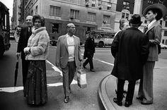 Paul McDonough Street Corner, East Side, Man With Shopping Bag, 1973.  © Paul McDonough. Courtesy Sasha Wolf Gallery, New York City.