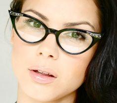aa6173cd9d Vintage Retro Cat Eye Clear Lenses Womens Eye Glasses