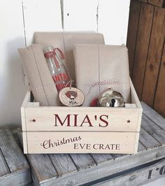 Items similar to Christmas Eve Crate,Christmas Eve Box,Christmas,Personalised Gift on Etsy Christmas Eve Box For Adults, Christmas Eve Crate, Xmas Eve Boxes, Christmas Presents For Moms, Christmas Fair Ideas, Christmas Hamper, Red Christmas, Christmas Crafts, Christmas Boxes