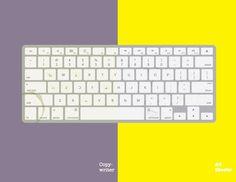 The keyboard Art directors versus copywriters
