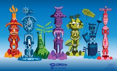 Colorful picture of the Enchanted Tiki Room gods. Vintage Tiki, Vintage Witch, Halloween Skull, Vintage Halloween, Halloween Makeup, Halloween Costumes, Disney Love, Disney Art, Disney Stuff