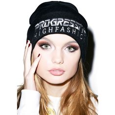 Joyrich Progressive Embroidered Beanie ($13) ❤ liked on Polyvore